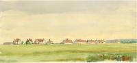 [Painting of R.N.W.M.P. Barracks at Battleford]