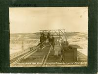 2nd Crosing North Sask. River. Changing Traveller to erect thro. spans