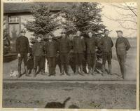 Sergeant Parker (right) and men of Prince Albert N.W.M.P. detachment, n.d.
