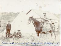 Police detachment at Meggifin's Battleford Sask. 1904.