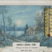 """Gooden's General Store"" thermometer"