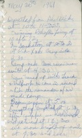 Robert Simonar's notes from the meeting of Provincial Scouts at Pike Lake