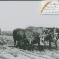 1912 Christian Diesen Plowing the first furrow on NW 26 49-8-W 3rd