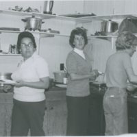 [Women in community kitchen]