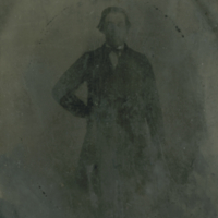 [Tintype of Louis Simonar Sr. - Ed Simonar's father]