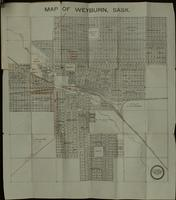 Map of Weyburn, Sask.