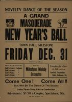 Novelty Dance of the Season A Grand Masquerade New Year's Ball