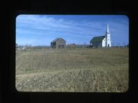 Catholic Church and Priests House Batoche, Sask Oct.1-1948