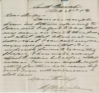 Letter to Angus McKay from [?] Delisle