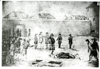 Execution of Thomas Scott drawn by Rev. Young