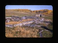 All That's Left of Old H.B. Warehouse-at Ft. Pitt, 1885  Onion Lake Sask Oct.1-1947