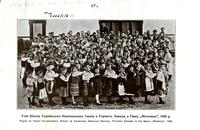 """Pupils of Vasile Avramenkno's School of Ukrainian National Dances, Toronto, Canada, in the dance ""Meteliza"", 1926"""