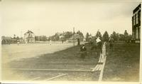 [Preparing to build tennis court at Bedford Road Collegiate]