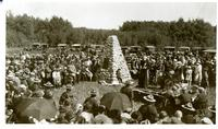 The unveiling of the monument commemorating Battle of Batoche