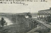 [Steam engine on the Saskatchewan River]