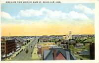 Bird's-Eye View Showing Main St., Moose Jaw, Sask.