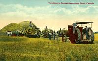 Threshing in Saskatchewan near Scott, Canada