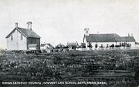 Roman Catholic Church, Convent and School, Battleford, Sask.