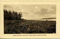 Lake Manitou looking west from Watrous, Sask.