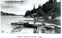 There is Fine Fishing Here. Pirot's Beach, Cochin, Sask.