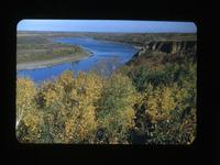 S. Sask. River Turns West, Then North to Batoche Batoche, Sask Oct.1-1948