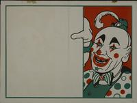 Blank clown poster