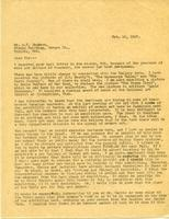 Letter from AWC to Mr. A.Y. Jackson, Feb. 16, 1927