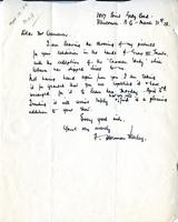 Letter from F. Horsman Varley to Mr. Cameron, March 31st 28.