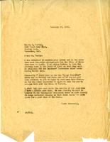 Letter from AWC to F.H. Varley, February 22, 1928.