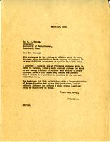 Letter from AWC to Dr. W.C. Murray, March 12, 1928.