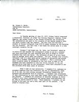 Letter from Flo. E. Bennee to Ernest W. Smith, July 11, 1972