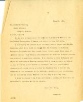 Letter from AWC to Mr. Alexander Calhoun, June 20, 1930.