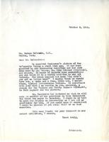 Letter from Principal to Mr. Norman MacKenzie, October 8, 1924.