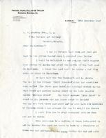 Letter from Norman Gurd to A.W. Cameron, 19th December 1927