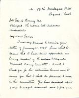 Letter from A.J. Pyke to Geo. A. Bonney, 1945.