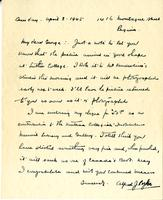 Letter from A.J. Pyke to George Bonney, April 8. 1945