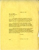 Letter from AM to Mr. A.J. Pyke, December 13, 1943