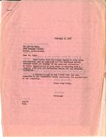 Letter from GAB to Mr. Alfred Pyke, February 6, 1947