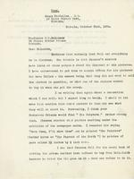 Letter from James MacCallum to J.C. McLennan, October 31st, 1924.