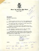 Letter from H.E. Bowes to The Director of the Art Gallery, May 2, 1960
