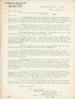 Letter from Photographic Arts Limited to A.J. Pyke, May 17th, 1920.
