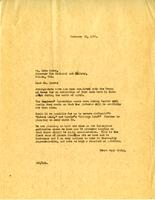 Letter from A.W. Cameron to Eric Brown, February 22, 1928