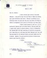 Letter from Eric Brown to A.W. Cameron, March 2, 1928