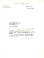 Letter from A.J. Pyke to Archibald Browne, May 29, 1922