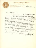 Letter from R. F. Gagen to A.W. Cameron, September 15, 1924