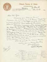 Letter from R.F. Gagen to Alfred J. Pyke, December 27, 1925