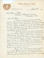 Letter from R.F. Gagen to Alfred J. Pyke, July 28, 1920