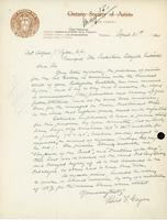 Letter from R.F. Gagen to Alfred J. Pyke, April 21, 1920