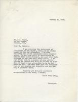 Letter from Principal to Mr. R.F. Gagen, January 14, 1925