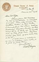 Letter from Robt. F. Gagen to Mr. Pyke, March 23, 1921